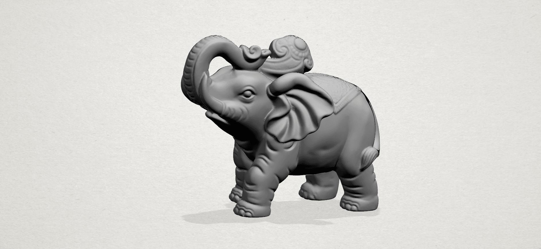 Elephant 02 -A01.png Télécharger fichier STL gratuit Eléphant 02 • Plan imprimable en 3D, GeorgesNikkei