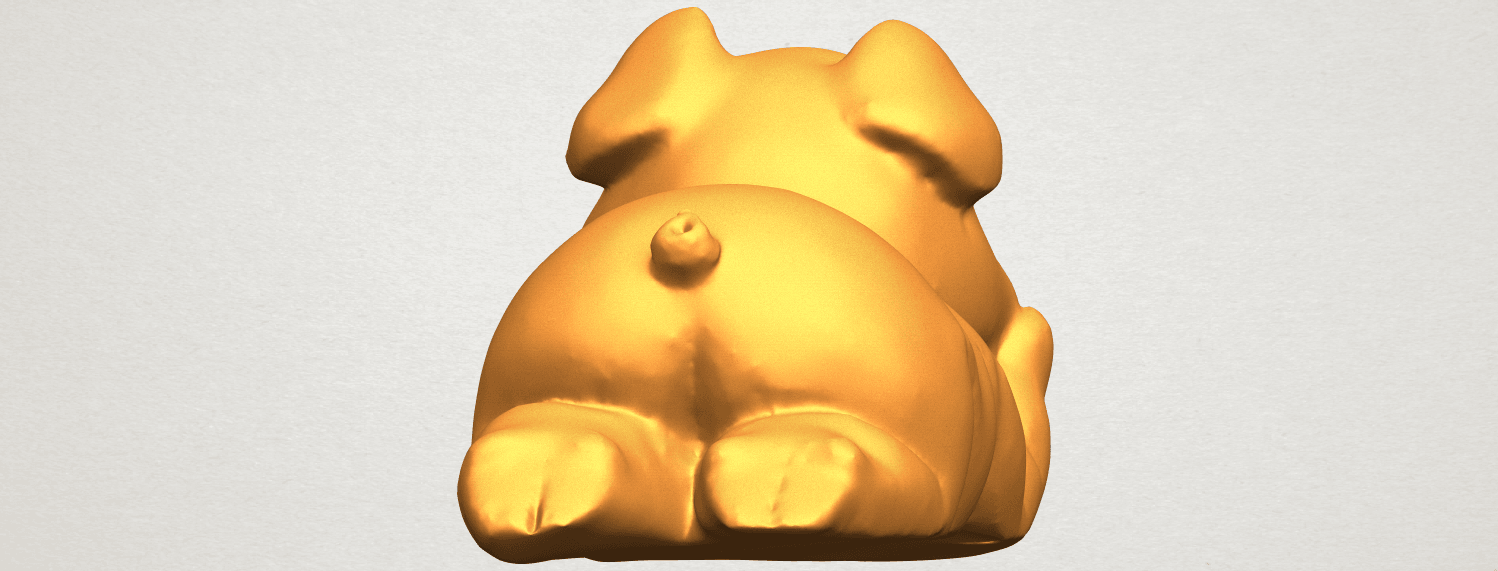 A04.png Download free STL file Pig 01 • 3D printing object, GeorgesNikkei