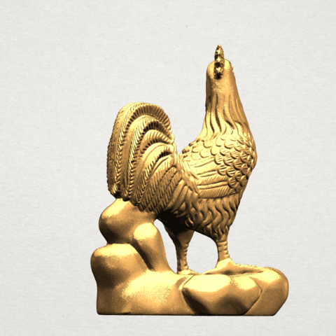 TDA0051j Chinese Horoscope10-B04.png Download free STL file Chinese Horoscope 10 Chicken - TOP MODEL • 3D printable design, GeorgesNikkei