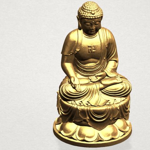 Gautama Buddha (ii) A08.png Download free STL file Gautama Buddha 02 • 3D print template, GeorgesNikkei