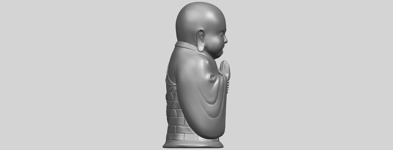 Little_Monk_80mmA09.png Download free STL file Little Monk 01 • 3D printable design, GeorgesNikkei