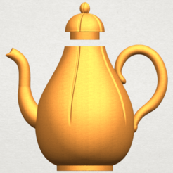 Free 3D printer designs Tea Pot 02, GeorgesNikkei