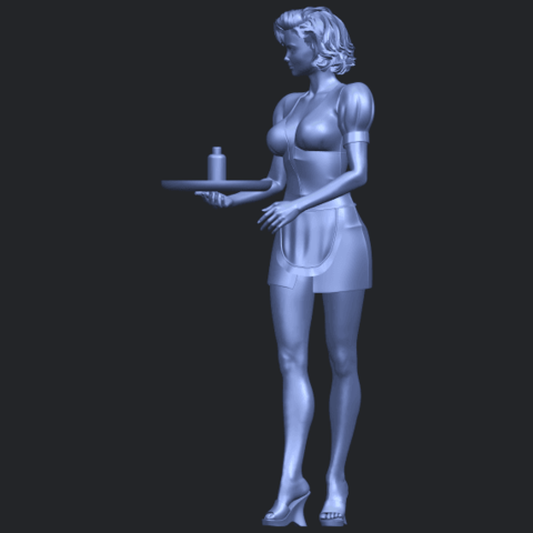 07_TDA0475_Beautiful_Girl_09_WaitressB03.png Download free STL file Beautiful Girl 09 Waitress • 3D printable object, GeorgesNikkei