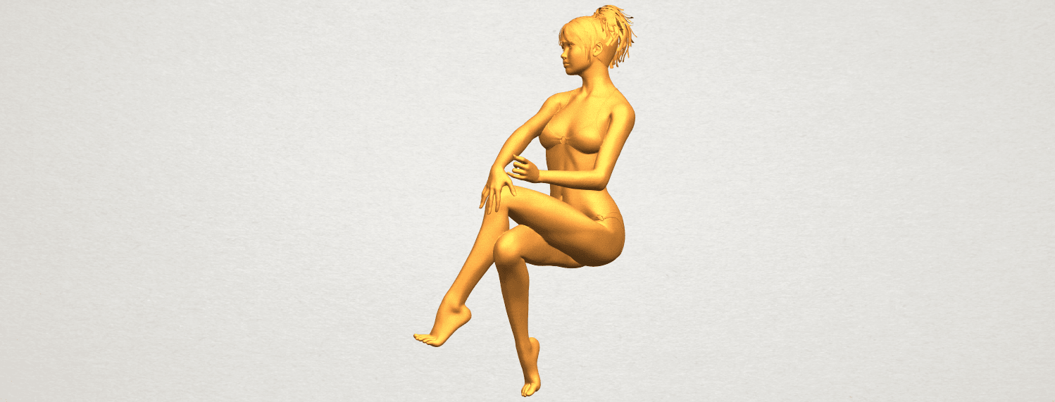 A06.png Download free STL file Naked Girl H02 • 3D print object, GeorgesNikkei