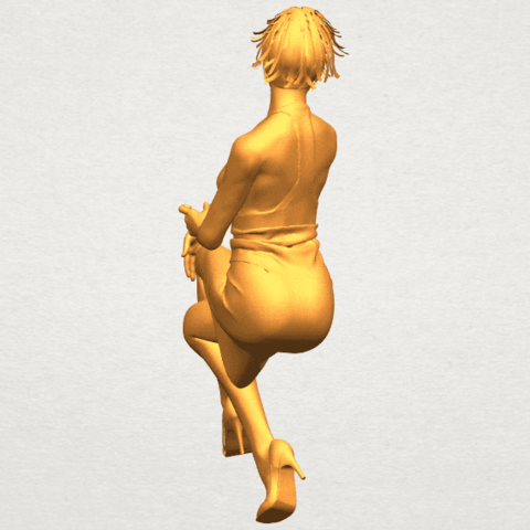 A09.png Download free STL file Naked Girl H04 • 3D printing object, GeorgesNikkei