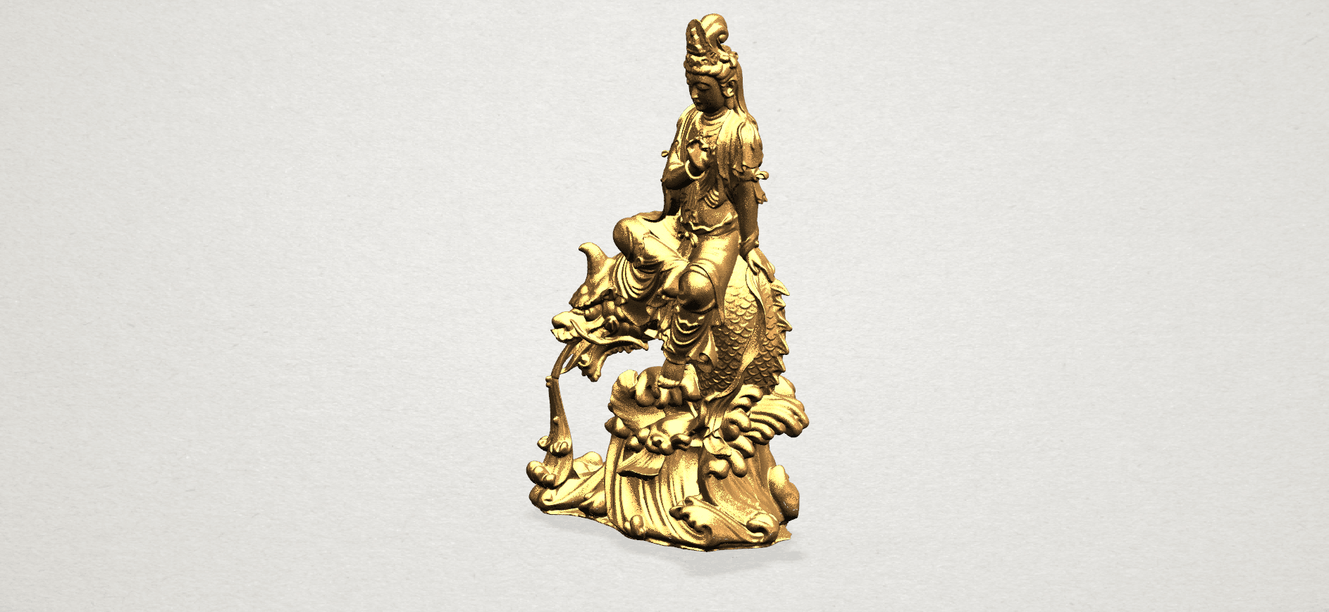 Avalokitesvara Bodhisattva (with fish) 88mm - A09.png Télécharger fichier 3DS gratuit Avalokitesvara Bodhisattva (avec poisson) 01 • Modèle imprimable en 3D, GeorgesNikkei