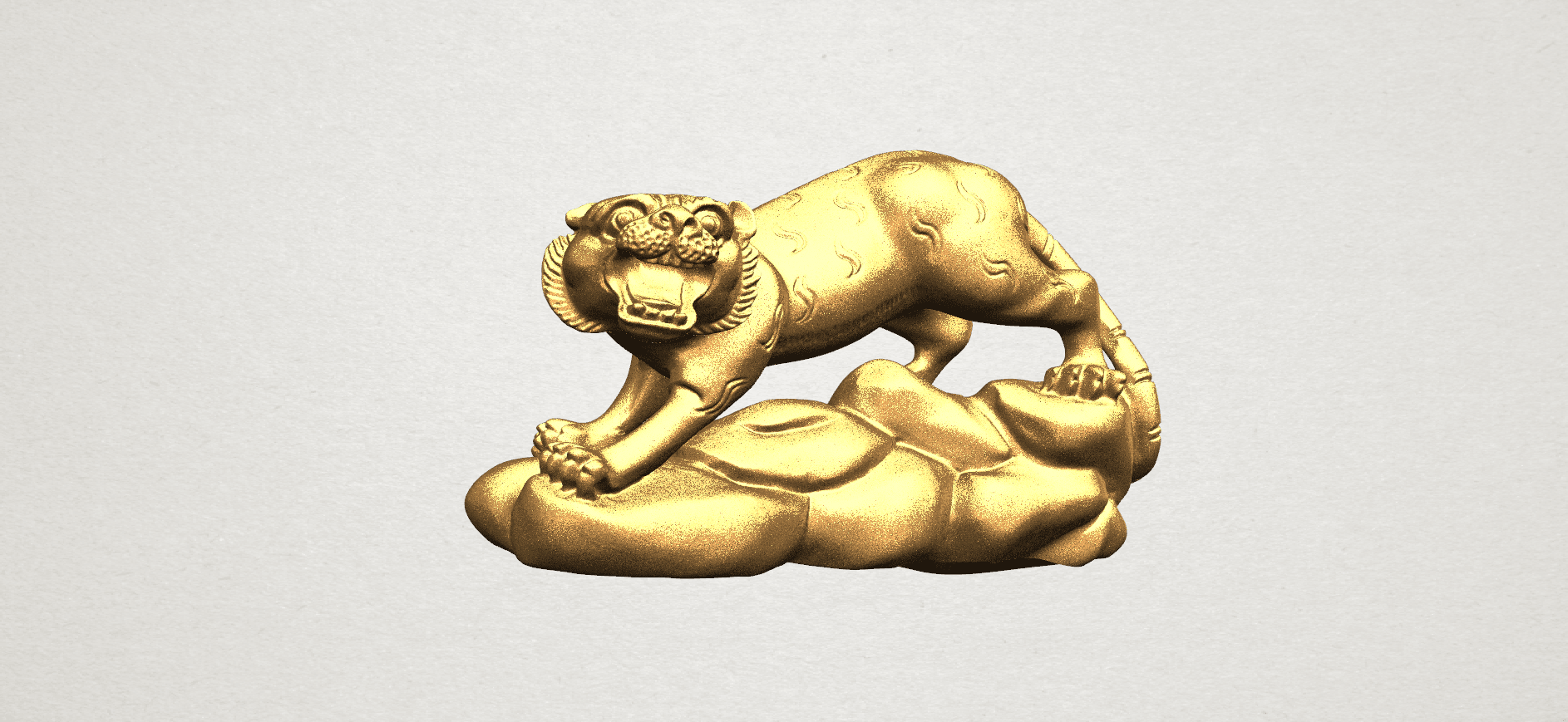 Chinese Horoscope03-03.png Download free STL file Chinese Horoscope 03 Tiger • 3D printer template, GeorgesNikkei