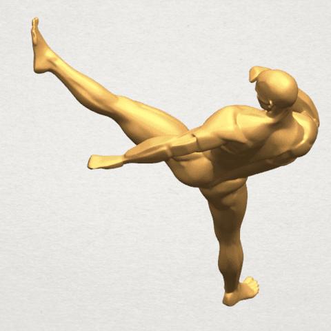 TDA0547 Man Kicking A07.png Télécharger fichier STL gratuit Man Kicking • Objet pour impression 3D, GeorgesNikkei