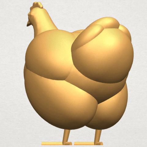 TDA0484 Hen A04.png Télécharger fichier STL gratuit Poule • Design pour imprimante 3D, GeorgesNikkei