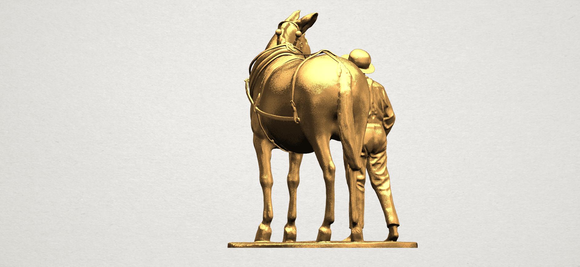Horse with Man (i) - A05.png Télécharger fichier STL gratuit Cheval avec Man 01 • Objet à imprimer en 3D, GeorgesNikkei