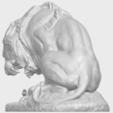 16_Lion_(iii)_with_snake_60mm-A03.png Télécharger fichier STL gratuit Lion 03 - avec serpent • Modèle imprimable en 3D, GeorgesNikkei