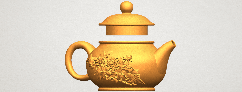 TDA0324 Tea Pot (iii)- Body and Cap A04.png Download free STL file Tea Pot 03 • 3D printing template, GeorgesNikkei