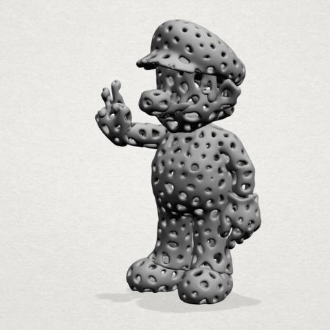 Mario-A02.png Download free STL file Voronoi Mario • Model to 3D print, GeorgesNikkei