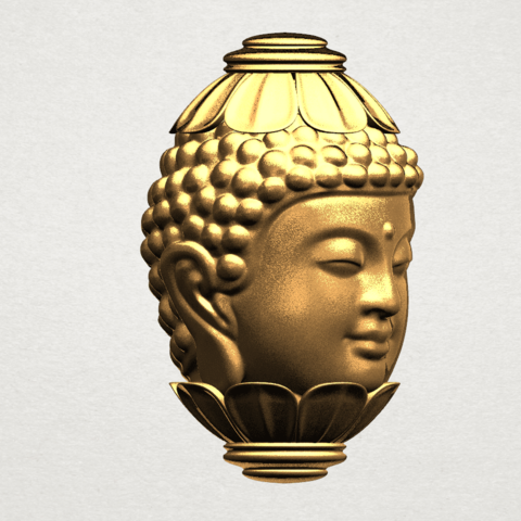 Buddha - Head Sculpture 80mm -A06.png Download free STL file Buddha - Head Sculpture • 3D printing model, GeorgesNikkei