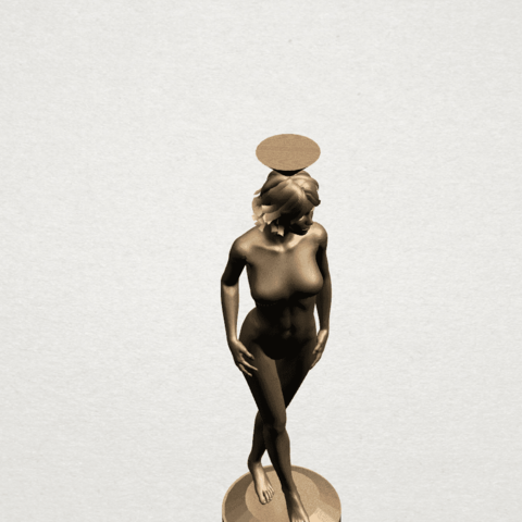 Naked girl-vase-B08.png Download free STL file Naked Girl with Vase on Top (i) • 3D print template, GeorgesNikkei