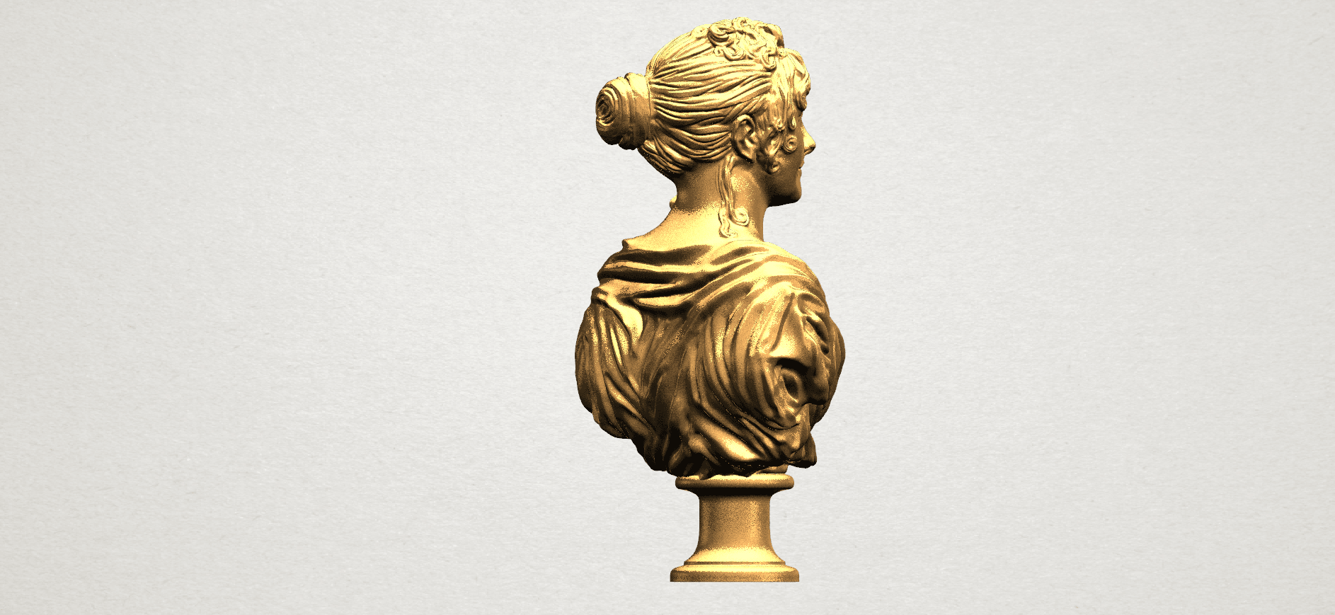 Bust of a girl 01 A05.png Download free STL file Bust of a girl 01 • Object to 3D print, GeorgesNikkei