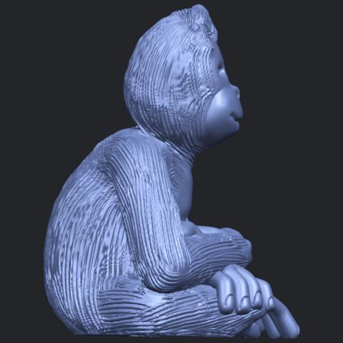 09_TDA0606_ChimpanzeeB09.png Télécharger fichier STL gratuit Chimpanzé • Design imprimable en 3D, GeorgesNikkei
