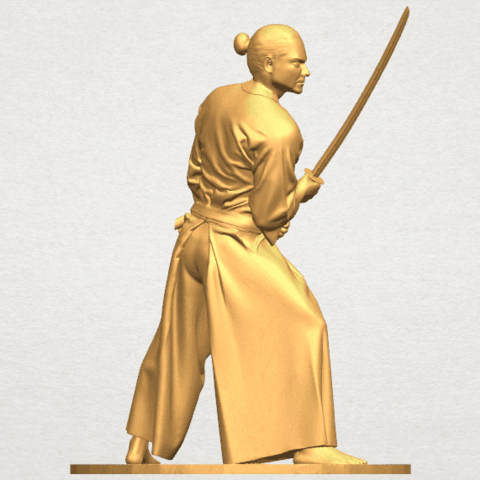 TDA0544 Japanese Warrior A05.png Download free STL file Japanese Warrior • 3D printer model, GeorgesNikkei