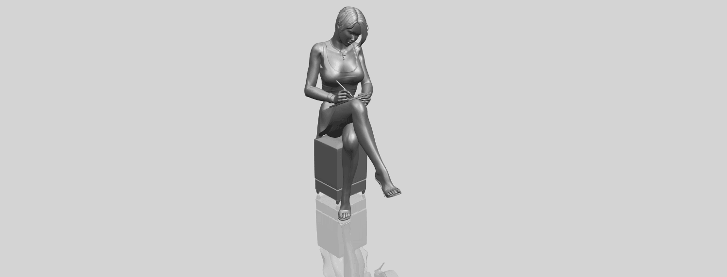 19_TDA0471_Beautiful_Girl_05_A00-1.png Download free STL file Beautiful Girl 05 • 3D printing template, GeorgesNikkei
