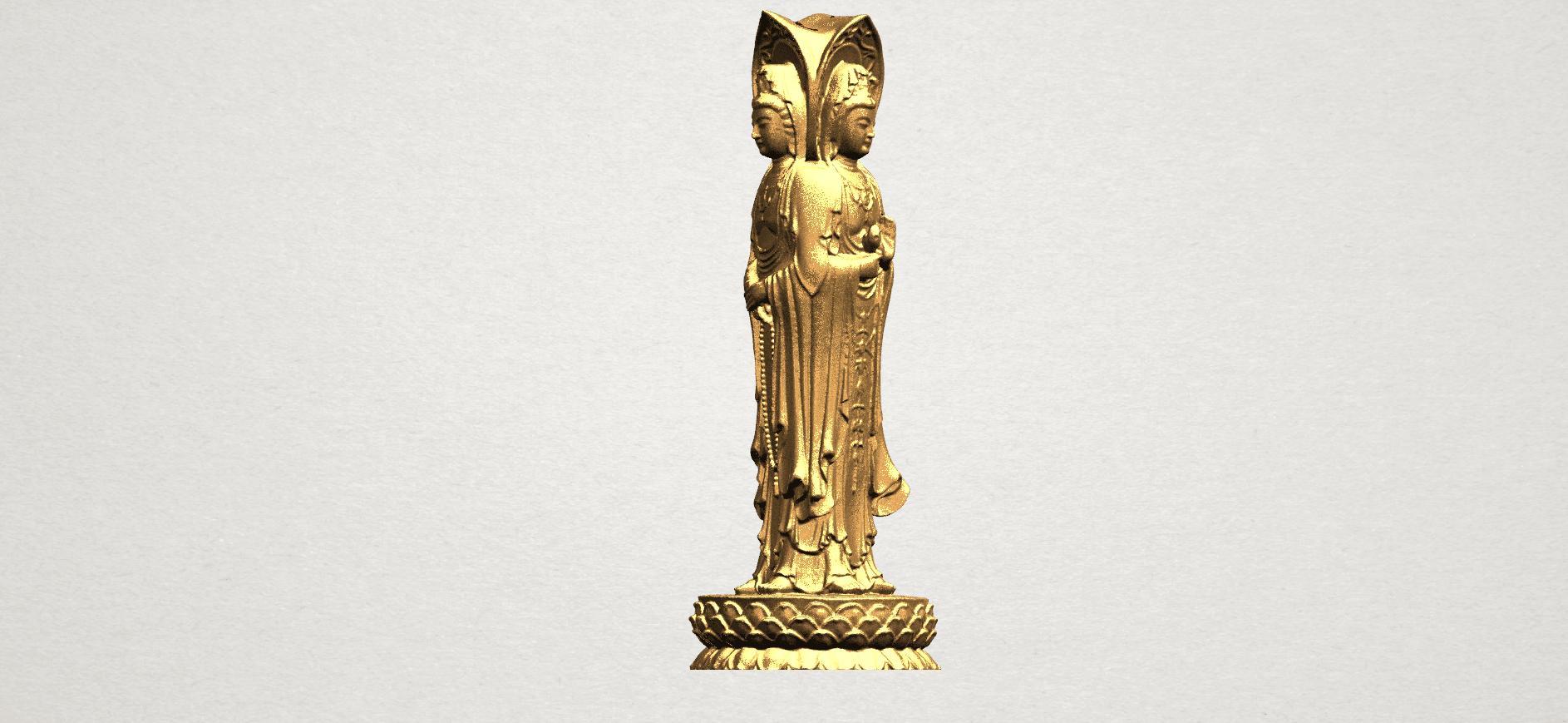 Avalokitesvara Buddha (with Lotus Leave) (i) A08.png Download free STL file Avalokitesvara Buddha (with Lotus Leave) 01 • 3D printable model, GeorgesNikkei