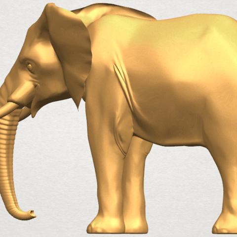 TDA0592 Elephant 07 A02.png Télécharger fichier STL gratuit Eléphant 07 • Objet à imprimer en 3D, GeorgesNikkei