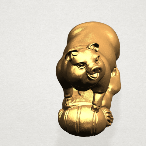 Chinese Horoscope12-B05.png Download free STL file Chinese Horoscope 12 pig • Model to 3D print, GeorgesNikkei