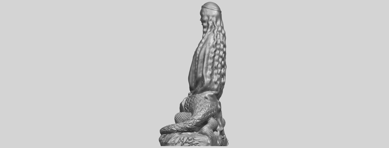 St Margaret 88mmA04.png Download free STL file Saint Margaret  • Template to 3D print, GeorgesNikkei