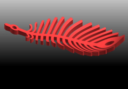 02.png Download free STL file Earing -Leaf • 3D printer template, GeorgesNikkei