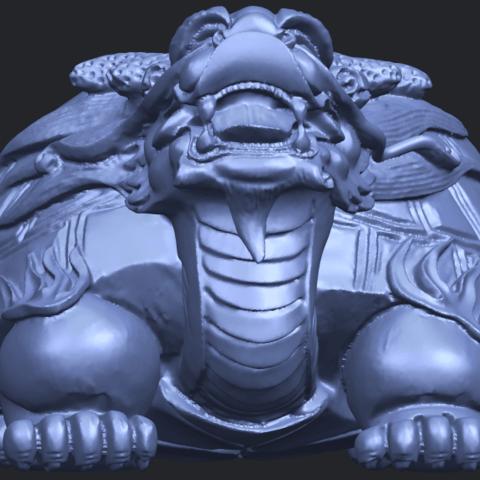 01_TDA0333_Dragon_TortoiseB09.png Télécharger fichier STL gratuit Tortue dragon • Objet imprimable en 3D, GeorgesNikkei