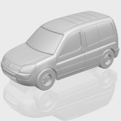 Télécharger fichier 3D gratuit Citroën Berlingo Belgium Post, GeorgesNikkei