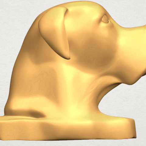TDA0535 Dog Head A01 .png Download free STL file Dog Head • Model to 3D print, GeorgesNikkei