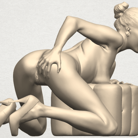TDA0284 Naked Girl B01 08.png Télécharger fichier STL gratuit Fille nue B01 • Design à imprimer en 3D, GeorgesNikkei