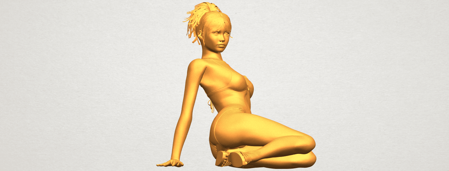 A10.png Download free STL file Naked Girl F02 • 3D printable template, GeorgesNikkei