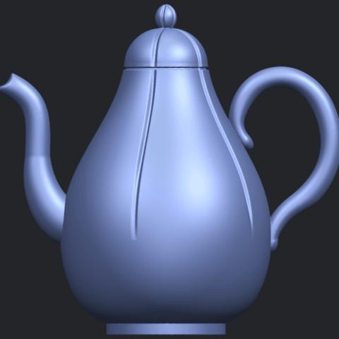 19_TDA0323_Tea_Pot_iiB01.png Download free STL file Tea Pot 02 • 3D printer template, GeorgesNikkei