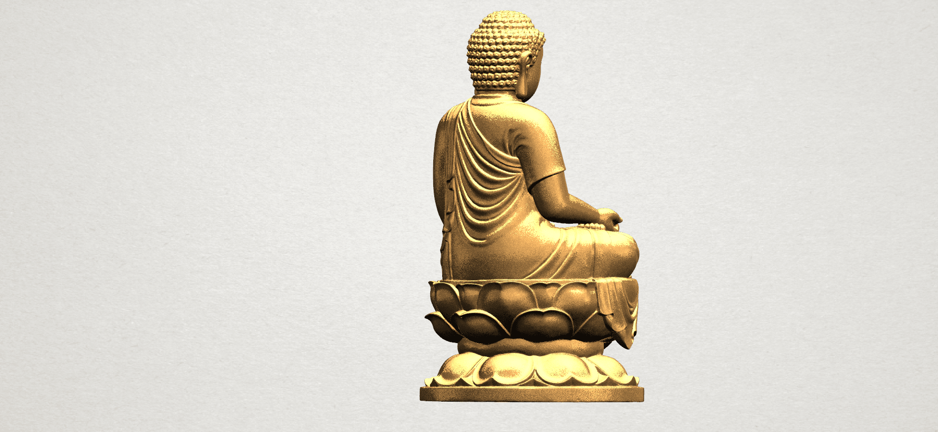 Gautama Buddha (ii) A06.png Download free STL file Gautama Buddha 02 • 3D print template, GeorgesNikkei