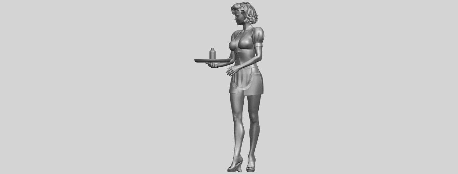 07_TDA0475_Beautiful_Girl_09_WaitressA03.png Download free STL file Beautiful Girl 09 Waitress • 3D printable object, GeorgesNikkei