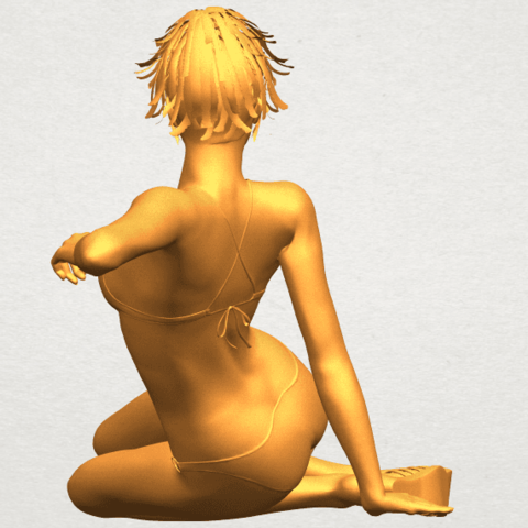 A06.png Download free STL file Naked Girl F02 • 3D printable template, GeorgesNikkei