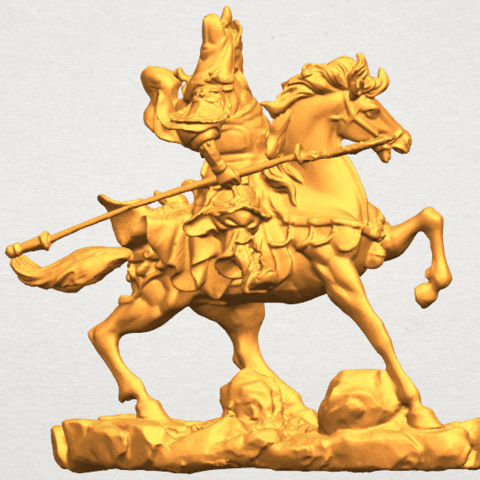 TDA0331 Guan Gong (iv) A04.png Download free STL file Guan Gong 04 • Template to 3D print, GeorgesNikkei