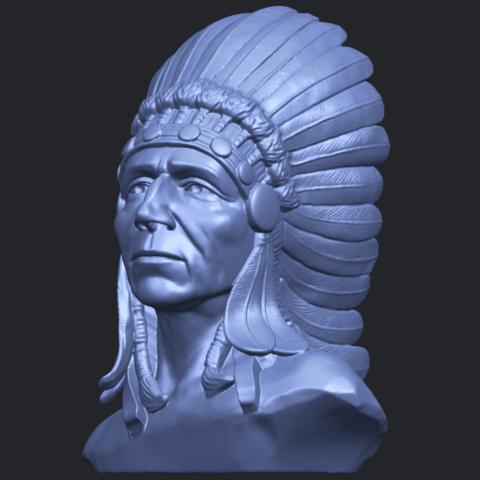 09_TDA0489_Red_Indian_03_BustB02.png Télécharger fichier STL gratuit Rouge Indien 03 • Objet pour impression 3D, GeorgesNikkei