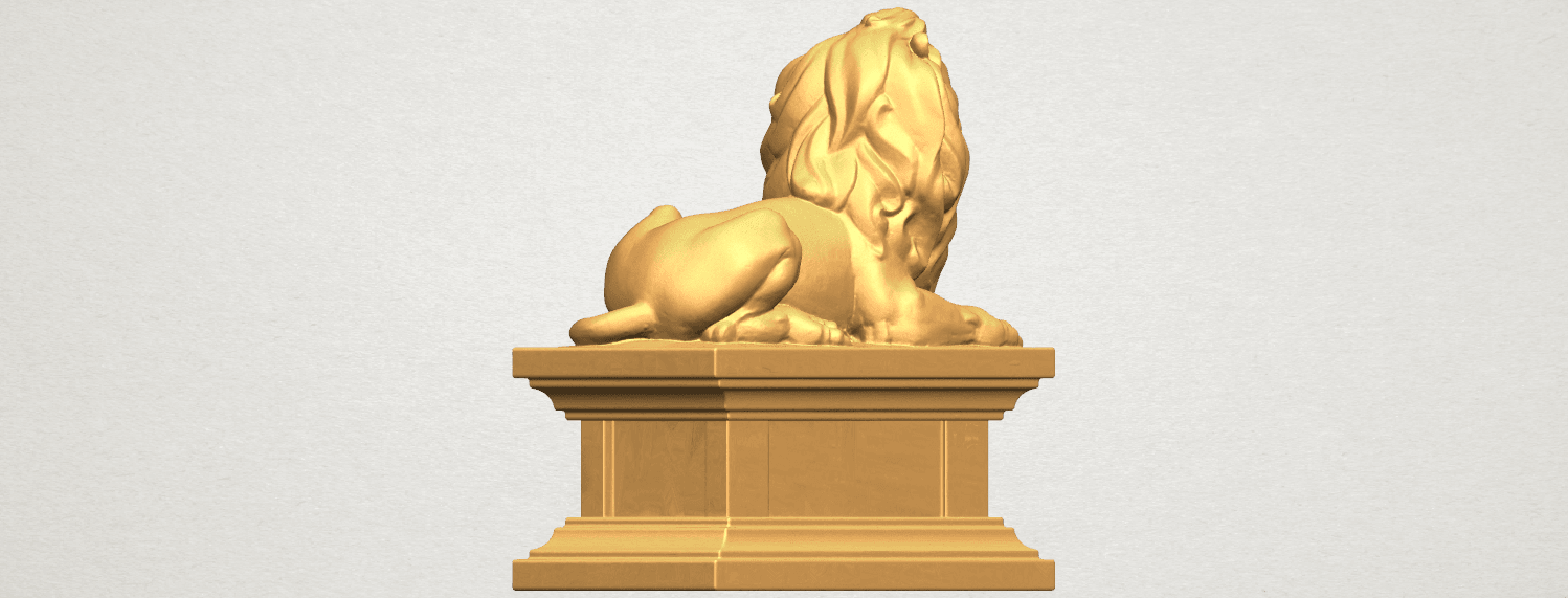 TDA0499 Lion 04 A05.png Download free STL file Lion 04 • Template to 3D print, GeorgesNikkei