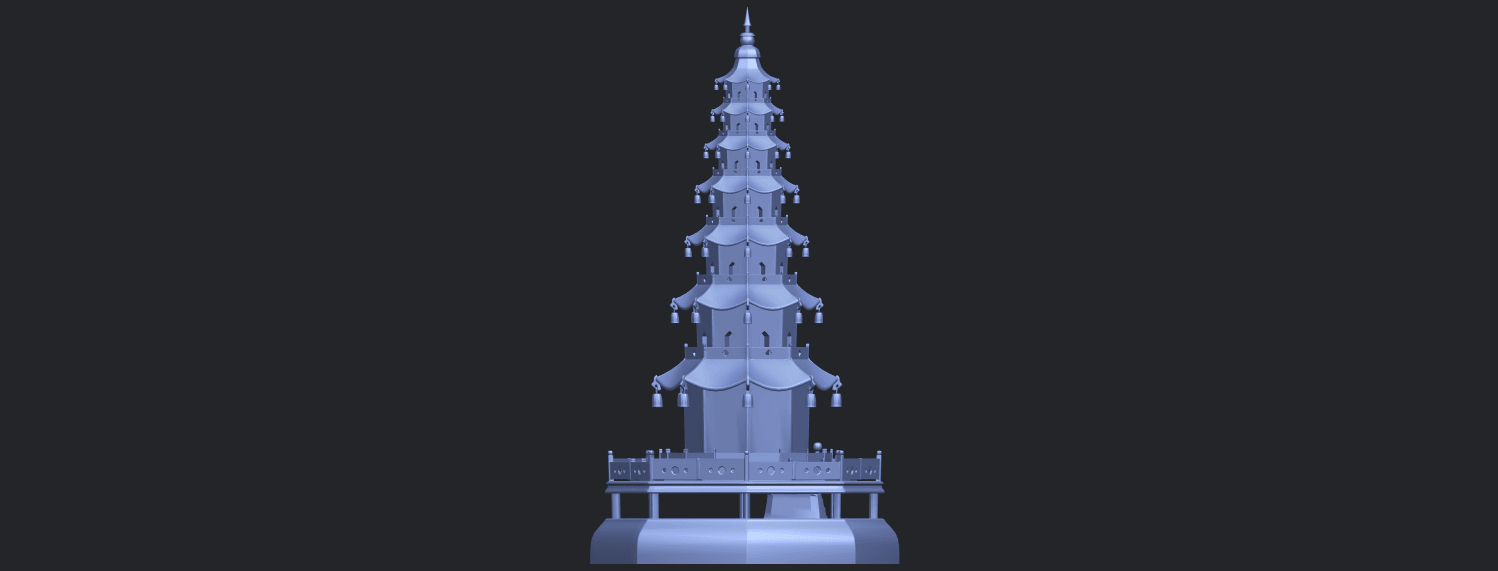 03_TDA0623_Chiness_pagodaB07.png Download free STL file Chiness pagoda • Design to 3D print, GeorgesNikkei