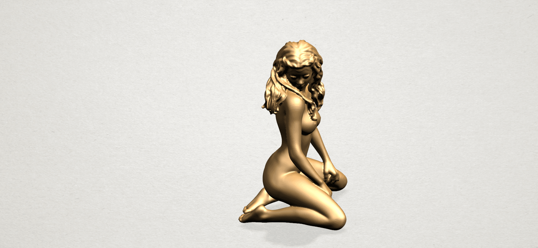 Naked girl - bended knees (II)-B07.png Download free STL file Naked girl - Bended Knees 02 -TOP MODEL • 3D printing object, GeorgesNikkei