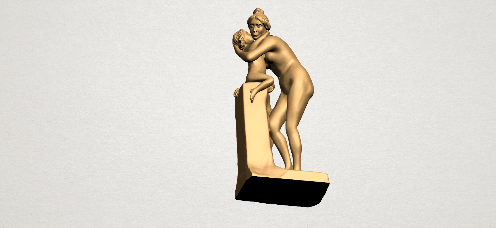 Mother-Child (i) A12.png Download free STL file Mother and Child 01 • 3D printing design, GeorgesNikkei
