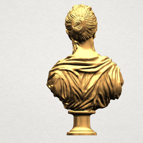 Bust of a girl 01 A04.png Download free STL file Bust of a girl 01 • Object to 3D print, GeorgesNikkei