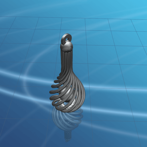 Necklace - Twisted Vase-02.png Download free STL file Necklaces - Twisted Vase • 3D print design, GeorgesNikkei
