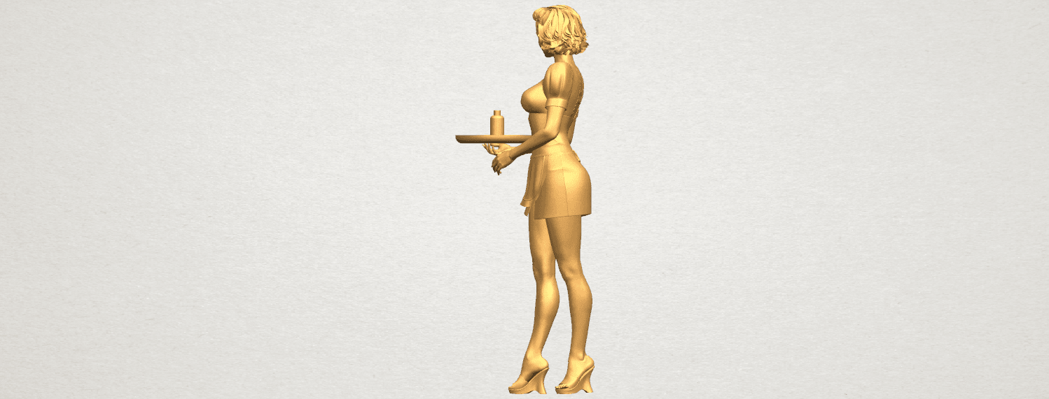 TDA0475 Beautiful Girl 09 Waitress A03.png Download free STL file Beautiful Girl 09 Waitress • 3D printable object, GeorgesNikkei