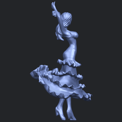 23_Girl_with_Dress_80mm-B01.png Download free STL file Girl with Dress • Object to 3D print, GeorgesNikkei