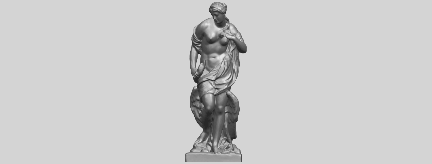 25_TDA0173_Naked_Girl_with_Goose_88mmA01.png Download free STL file Naked Girl with Goose • 3D print template, GeorgesNikkei