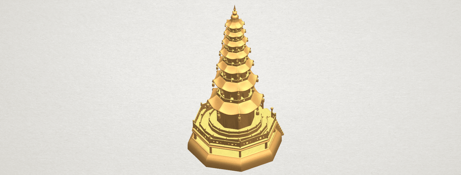 TDA0623 Chiness pagoda A06.png Download free STL file Chiness pagoda • Design to 3D print, GeorgesNikkei