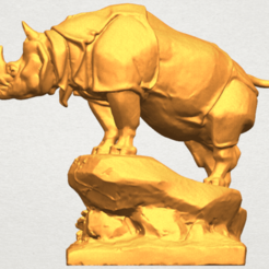 Free 3d printer designs Rhinoceros 03, GeorgesNikkei